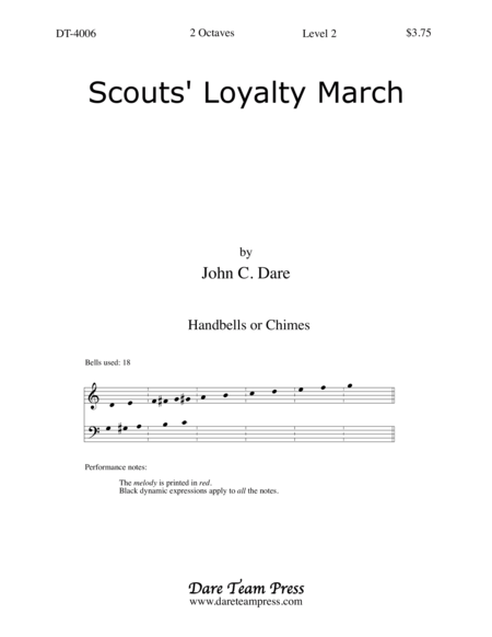 Cover of Scout's Loyalty March