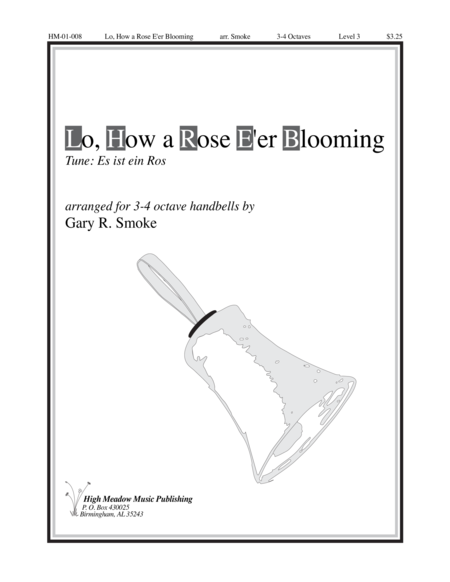 Cover of Lo How a Rose E'er Blooming