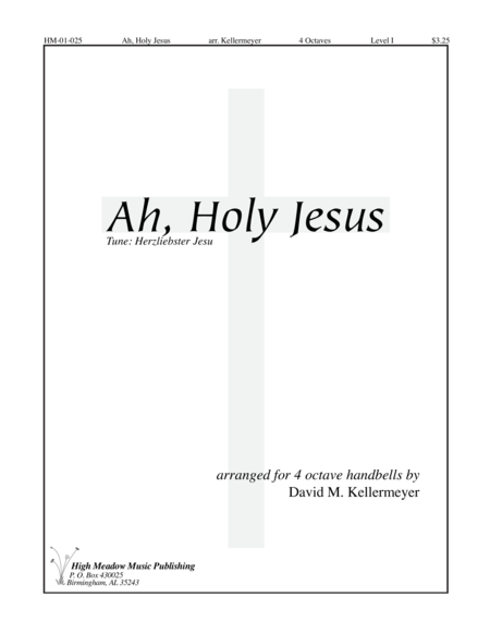Cover of Ah Holy Jesus