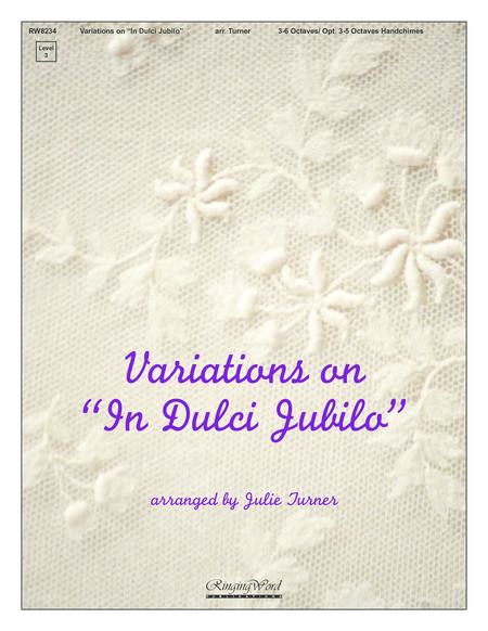 Cover of Variations on In Dulci Jubilo