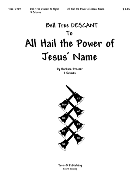Cover of All Hail the Power of Jesus' Name