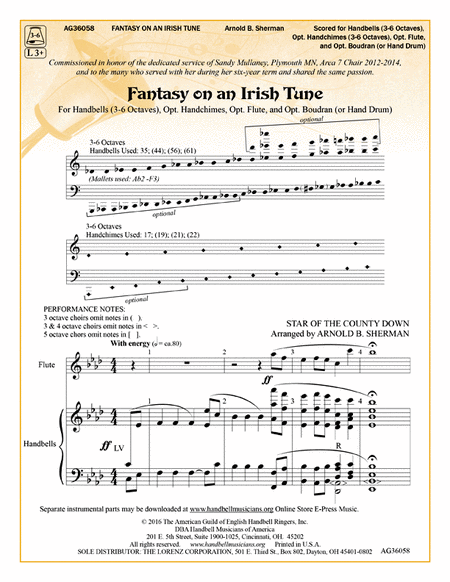 Cover of Fantasy on an Irish Tune