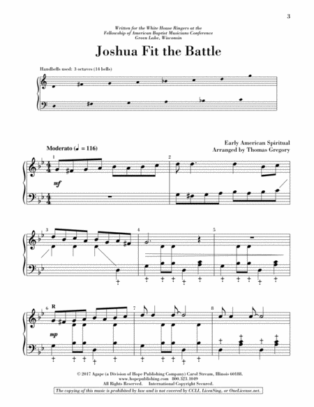 Page 1 of Joshua Fit the Battle