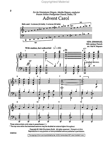 Page 1 of Advent Carol