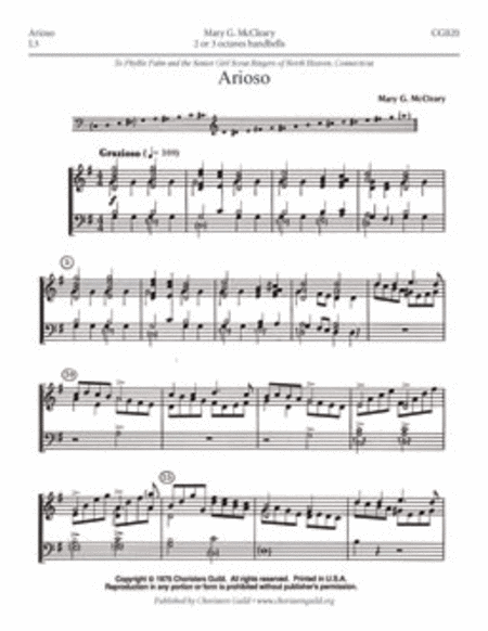 Cover of Arioso