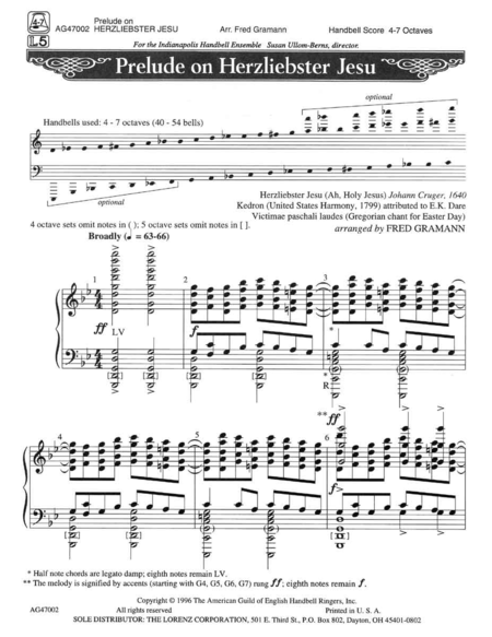 "Cover of Prelude on ""Herzliebster Jesu"""