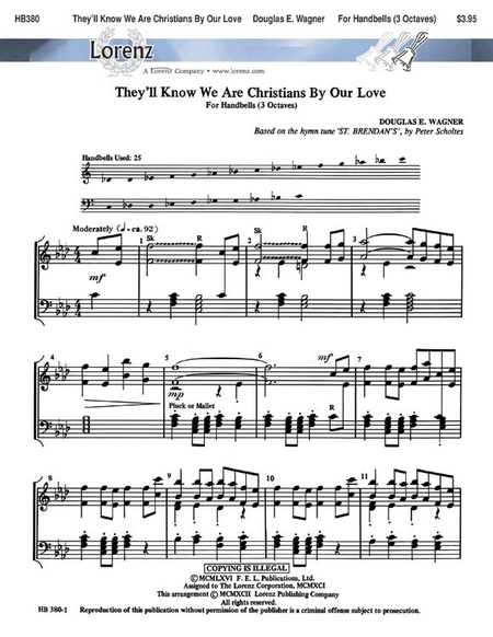 Cover of They'll Know We Are Christians By Our Love