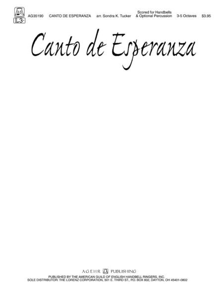 Cover of Canto de Esperanza