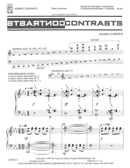Cover of Contrasts