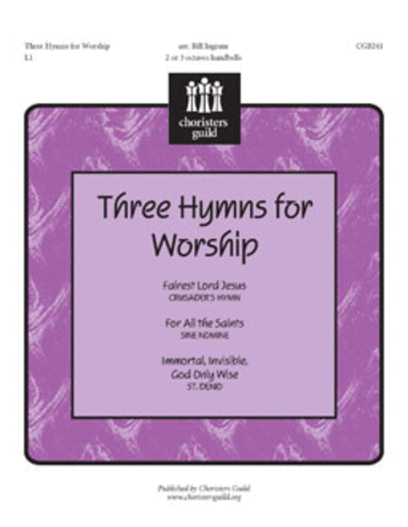 Cover of Three Hymns for Worship