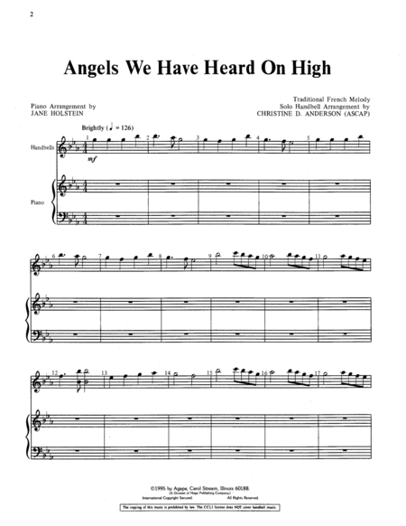 Page 1 of Angels We Have Heard on High