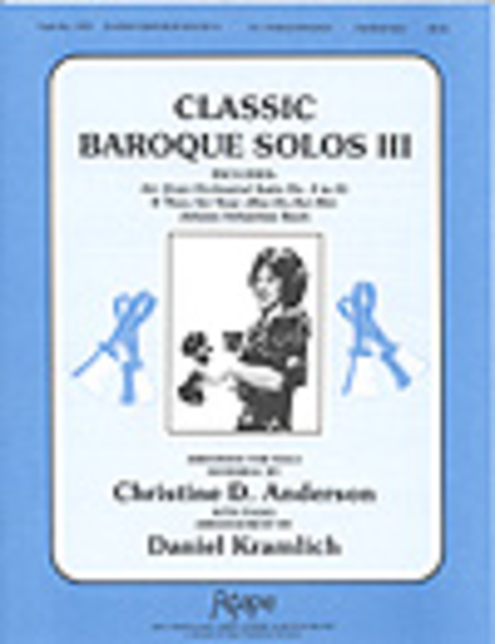 Cover of Classic Baroque Solos III
