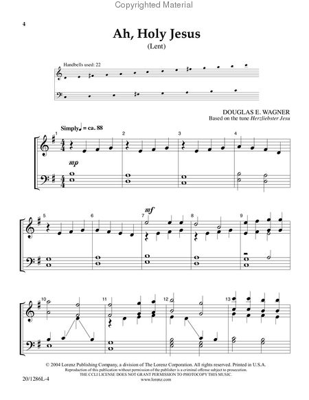 Page 1 of Handbell Hymns for Lent and Easter
