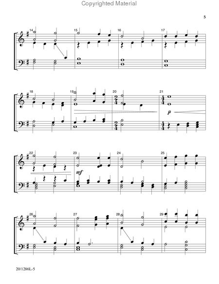 Page 2 of Handbell Hymns for Lent and Easter