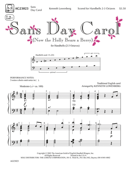 Cover of Sans Day Carol