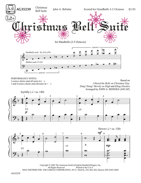 Cover of Christmas Bell Suite