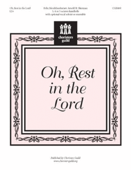 Cover of Oh, Rest in the Lord