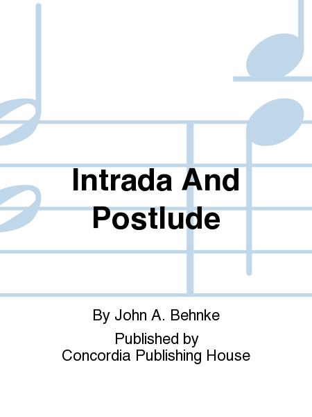 Cover of Intrada And Postlude