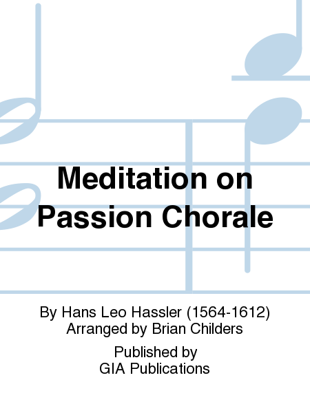 Cover of Meditation on PASSION CHORALE