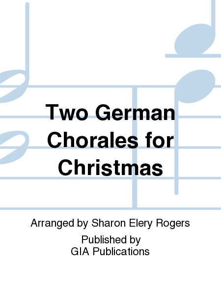Cover of Two German Chorales for Christmas