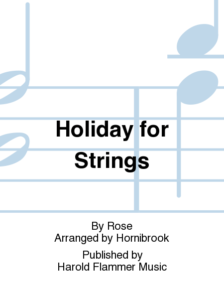 Cover of Holiday for Strings