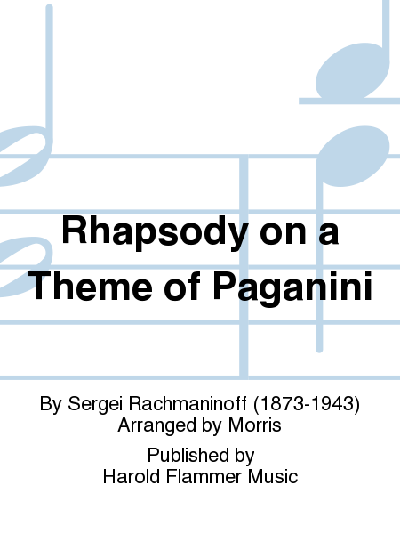 Cover of Rhapsody on a Theme of Paganini