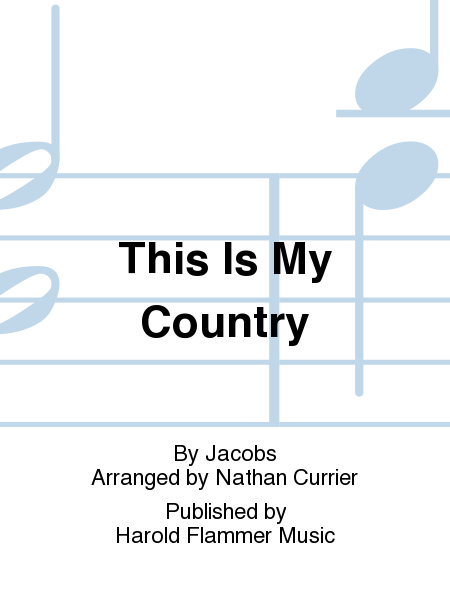 Cover of This Is My Country