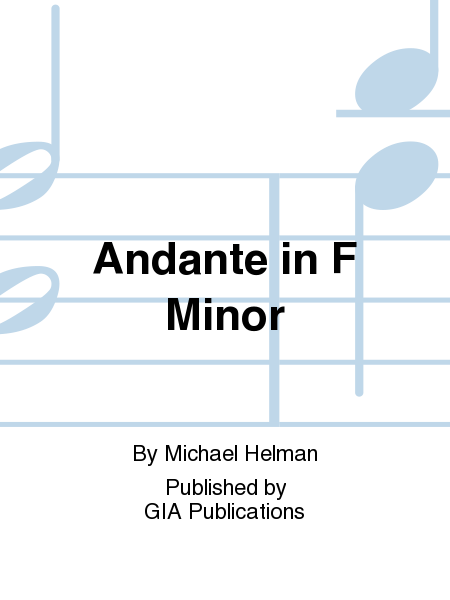 Cover of Andante in F Minor