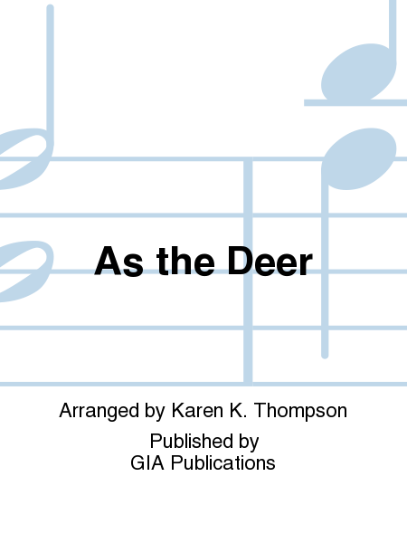 Cover of As the Deer