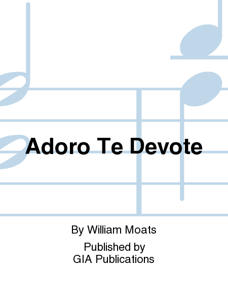 Cover of Adoro te devote