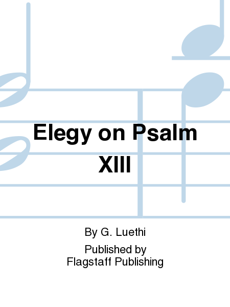 Cover of Elegy on Psalm XIII