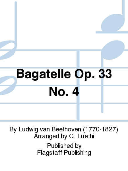 Cover of Bagatelle Op. 33 No. 4