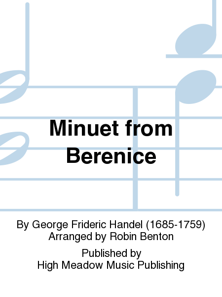 Cover of Minuet from Berenice