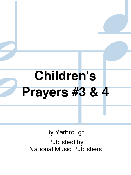 Cover of Children's Prayers #3 & 4