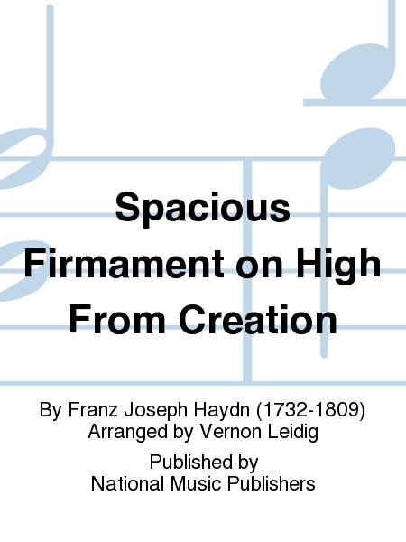Cover of Spacious Firmament on High From Creation