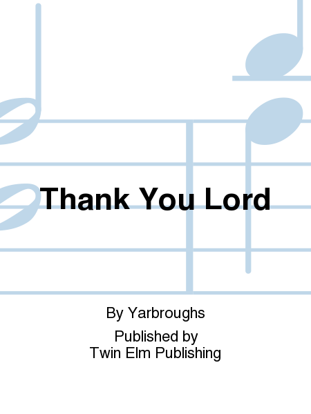 Cover of Thank You Lord