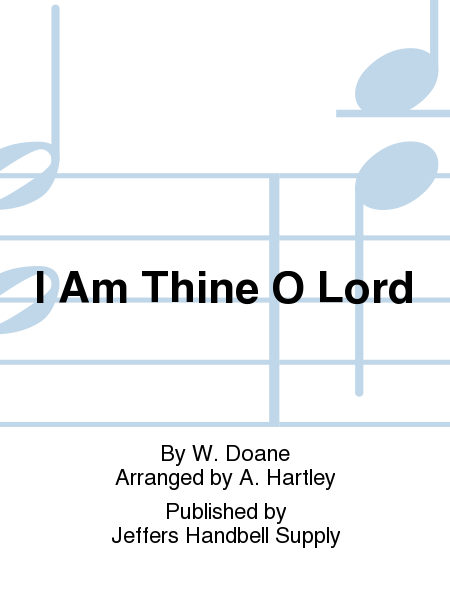 Cover of I Am Thine O Lord