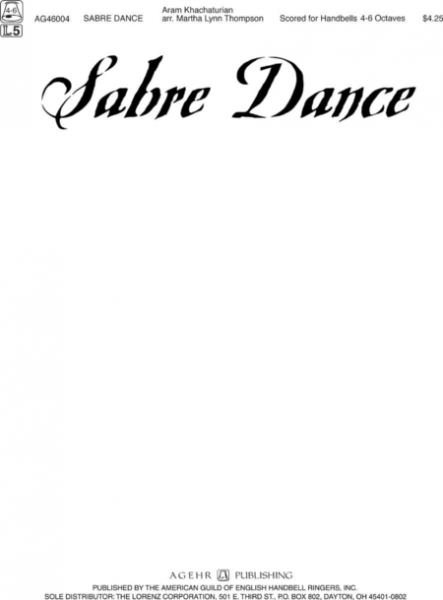 Cover of Sabre Dance