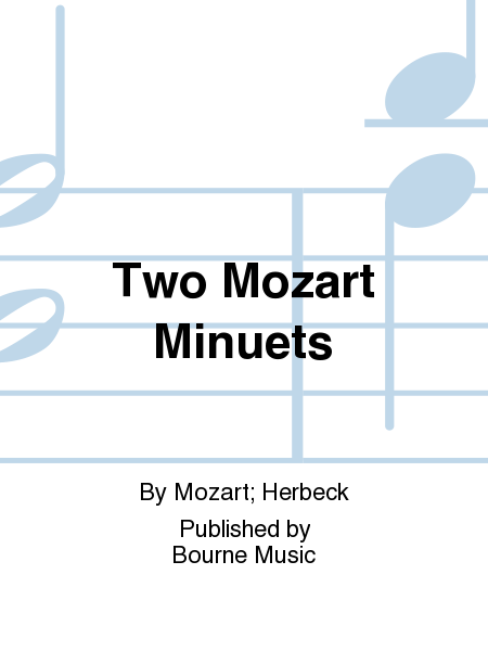 Cover of Two Mozart Minuets